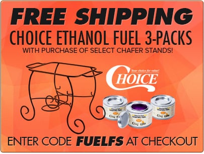 Free Shipping Choice Chafer Fuel 3 Packs