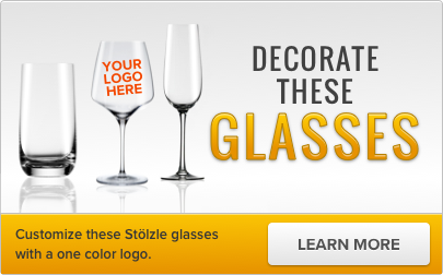 Customize this Stolzle glass with a one color logo